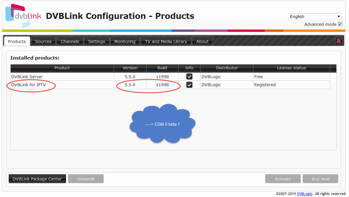 DVBLogic • View topic - Compatibility Synology DSM 6 0